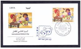 2015 - Libya - International Children's Day  Butterflies- FDC - Libia