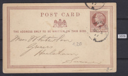 GREAT BRITAIN 1877, CARTE POSTALE, POST CARD, 13. OCT. 1877 LONDON, TO SUSSEX, HALF PENNY, See Scans - Stamped Stationery, Airletters & Aerogrammes