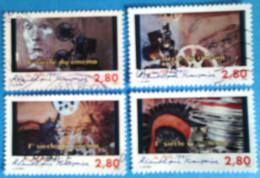 France 1995  : 1er Siécle Du Cinéma N° 2919 à 2922 Oblitéré - Francia