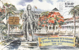 MAURITIUS ISL. - Francois Mahe De Labourdonnais(1699-1753), Chip GEM3.3, Tirage 30000, Used - Mauritius