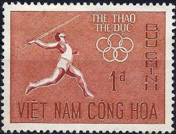 South Vietnam 1965 - Olympics Southeast Asia : Javelin ( Mi 350 - YT 276 ) - Viêt-Nam