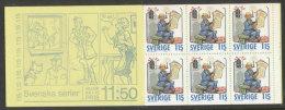 SUEDE 1980 - CARNET  YT C1107 - Facit H324 - Neuf ** MNH - Noël,  Bandes Dessinées - Carnets