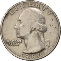 États-Unis, Washington Quarter, 1968, Philadelphia, TB+, KM:164A - Federal Issues