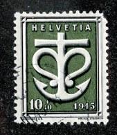 9417  Swiss 1945  Michel #443 Faulty ( Cat. .70€ ) - Gebraucht