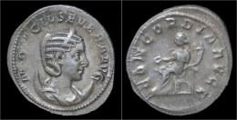 Otacilia Severa AR Antoninianus Concordia Seated Left - 5. L'Anarchie Militaire (235 à 284)