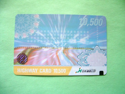 Japan Pre-paid Card For Highway - Small Hologram - Cars