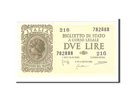Italie, 2 Lire, 1944, KM:30b, 1944-11-23, SPL - [ 1] …-1946 : Kingdom