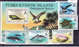 TURKS AND CAICOS ISLANDS 1979, SG 534/8 ** MNH Et SG MS 539 ** MNH.  (6N264) - Postzegels