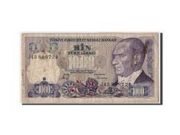 Turquie, 1000 Lira, L.1970 (1986), KM:196, 1970-01-14, B+ - Turquia