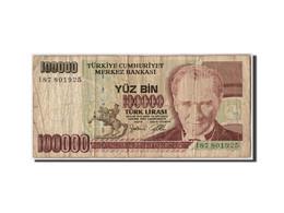 Turquie, 100,000 Lira, L.1970 (1998), KM:205, Non Daté, B+ - Turquie