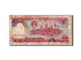 Cambodge, 500 Riels, 1991, KM:38a, Non Daté, B+ - Cambodia