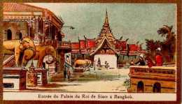 "Chromo ""Entrée Du Palais Du Roi Du Siam à Bangkok"" - Scans Recto Verso - Other"