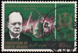 SOUTH ARABIA - Scott #20 Churchill Memorial (*) / Used Stamp - Grande-Bretagne (ex-colonies & Protectorats)