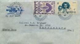 Lettre Avion Pour Les USA  Yv 278, 312 - Madagascar (1889-1960)