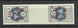 Mittellitauen Central Lithuania 1921 Michel 24 Kehrdruckpaar MNH - Lithuania