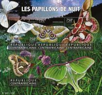 CENTRAL AFRICA 2015 ** Moths Motten M/S - OFFICIAL ISSUE - A1602 - Insekten