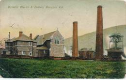 MONTAIN ASH - 1906 , Kath. Kirche U. Bergwerk - Insel Man