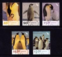 New Zealand (Ross Dependency) 2004 Penguins Set Of 5 MNH - - Ross Dependency (New Zealand)