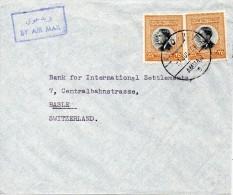 Jordanie Lettre Pour La Suisse 1959 - Jordan