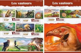 TOGO 2015 ** Vultures Geier M/S+S/S - OFFICIAL ISSUE - A1602 - Adler & Greifvögel