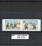 Paire Adhésifs De 2001 Neuf** Y&T N° Adh P 31-32 - KlebeBriefmarken