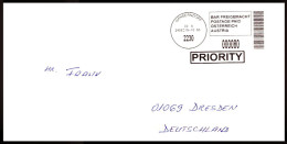 Österreich / Austria: 'Barfreimachung - Priority, 2015' / 'Cash-paid Labels', 2230 Gänserndorf - 2011-... Cartas