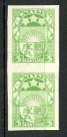 Latvia Lettland 1929 Michel 172 X ARCHIVE PROOF Probedruck Essay In Pair MNH - Lettonie