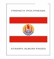 ALBUM Filkasol POLINESIA FRANCESA 1958-2104 - SIN MONTAR - Álbumes & Encuadernaciones