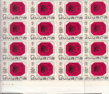 STAMPS ON STAMPS - GUYANA- WORLD RAREST STAMP SET OF 2 IN BLOCKS OF 20 MINT NEVER HINGED - Stamps On Stamps