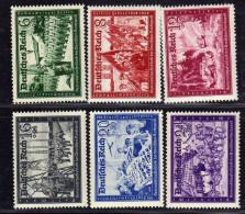 Deutsches Reich, 1941, Mi 773-778 ** (Mi 774; 777 *) [050216L] - Alemania