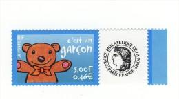 Timbre Personnalisé C´est Un Garçon De 2004 YT 3431A Et Logo Cérés En HELIO . TIMBRE SANS PHOSPHORE . Maury N° 3a : 5 € - France