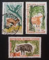 CHASSE ET TOURISME 1963/64 - OBLITERES - YT 214 + 216 + 218 - MI 262 + 263 + 257 - Ivory Coast (1960-...)