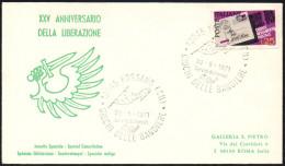 ITALIA FOSSANO (CUNEO) 1971 - GIOCHI DELLE BANDIERE - ANNULLO UN PO´ CHIARO - Giochi