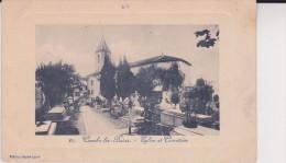 Cambo-les-Bains - L'Eglise Et Le Cimetière - Bon état   2 Scan - Cambo-les-Bains