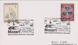 MB 3431) Österreich SSt Salzburg 1991: EC Mozart Wien München Paris (Eisenbahn) - Musik
