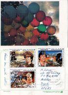 Env. 1983 LIBYE - LIBYA, Ballons - CPA Moderne , CPA Utilisé, Lot 44553 - Libia
