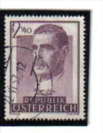 CC681 ÖSTERREICH 1957  MICHL 1032 Used / Gestempelt ZÄHNUNG SIEHE ABBILDUNG - 1945-.... 2. Republik