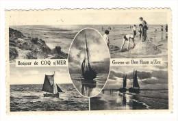 Bonjour De  Coq-sur-Mer / Groeten Uit Den Haan A/Zee.  Gelopen 1957 - Ledegem
