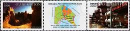Uzbekistan 2014 Karakalpakstan Region Se-tenant Strips Of 2v And Label MNH - Geografía