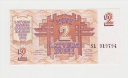 LETTONIA   2 RUBLI  FDS - Latvia