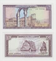LIBANO   10 LIVRES  COME DA FOTO - Libano