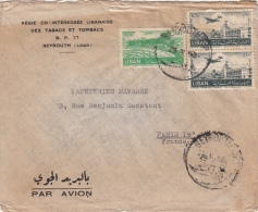 Lettre CaD BEYROUTH Pour La France >> Poste Aérienne - Liban