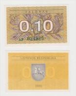 LITUANIA   0,10 TALONAS  FDS - Lituania