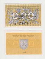 LITUANIA   0,20 TALONAS  FDS - Lituania