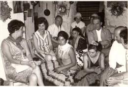 Photo Originale Espagne - Andalousie - Grenade - Flamenco - Groupe de Danseuses et Touristes en 1968 -