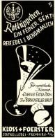Original-Werbung/ Anzeige 1941 - ROTKÄPPCHEN SEKT / KLOSS & FOERSTER FREYBURG - Ca. 45 X 110 Mm - Werbung