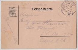WWI Feldpostkarte Travelled 1918 K.u.k. Feldspital Nr.215. K.u.k. FP472 To FP628 Censored Bb160429 - Oorlog 1914-18