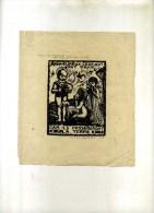 - BIENHEUREUX CEUX QUI SONT DOUX ... GRAVURE SUR BOIS DE PRAS-BELLADAS . SIGNEE AU CRAYON ET DATEE 1928 . - Religión & Esoterismo