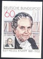 Germany Deutschland Maximum Card 1981: Elly Heuss Knapp; Politics;  Famous Persons Sozialreformerin; Müttergenesungswerk - Celebrità
