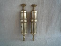 Paire De Beaux Supports D´appliques De Luminaire En Bronze, Style Art Déco . Voir Photos. - Lamps